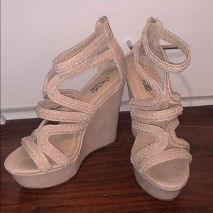 Charlotte Russe platform wedge Sandals